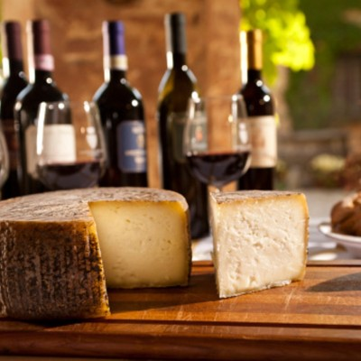 Wine And Cheese From Tuscany